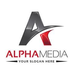 Letter A Logo Alpha Red
