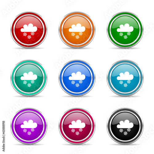 snowing icon vector set