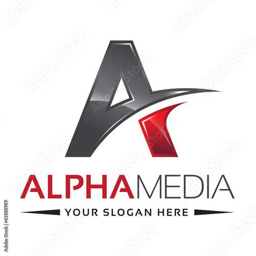 Letter A Logo Alpha Red