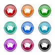 piggy bank icon vector set