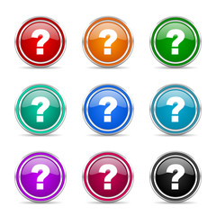 question mark icon vector set