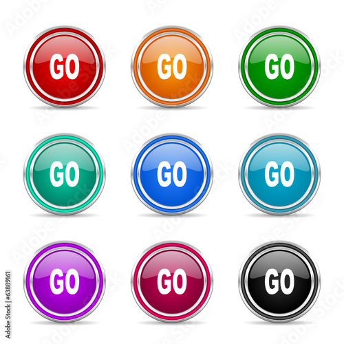 go icon vector set