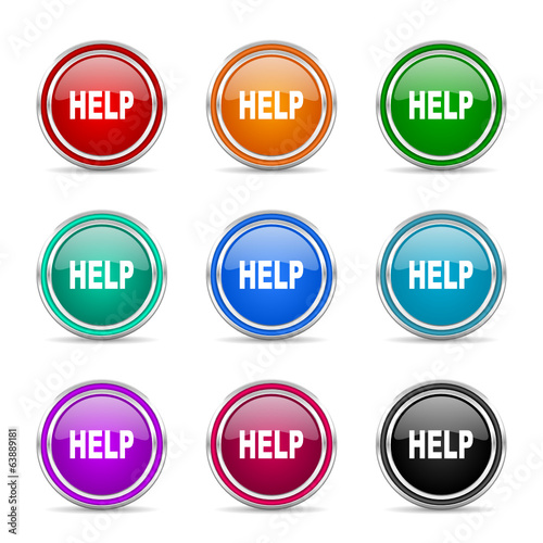 help  icon vector set