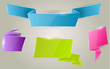 Colorful ribbon banner set