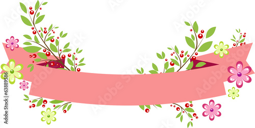Background with simple red ribbon