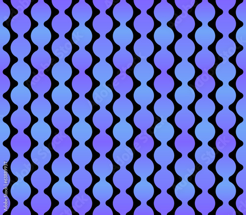 Seamless Geometric Blue Background with Dark Back. Vector
