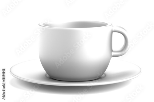 realistic 3d render of cup