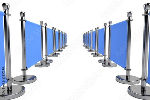 realistic 3d render of barrier