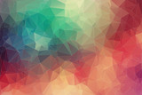 Abstract 2D geometric colorful background poster