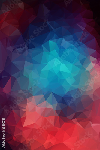 Fotobehang Geometrische Achtergrond Abstract colorful vector background