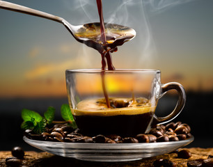 caffe' al tramonto