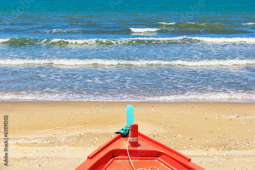 Fishing boat at beach