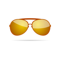 gold sunglasses color vector