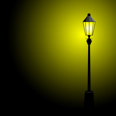 street lamp color vector