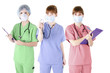 Trio of healthcare specialist