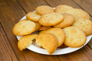 Shortbread cookies with parmesan