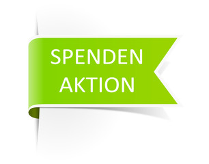 Schild Spendenaktion