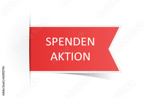 Schild rot Spendenaktion