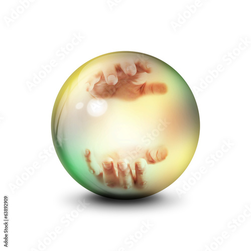 Sphere with hands