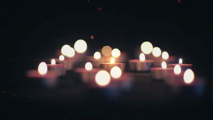 Свечи на тёмном фоне