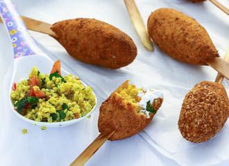Falafel mit Couscous