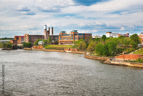 Columbus, Georgia, riverfront and downtown
