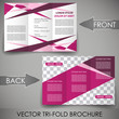 Three fold flyer template, brochure, cover design