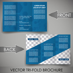 Business flyer template, corporate brochure, cover design