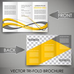 Corporate brochure, three fold flyer template