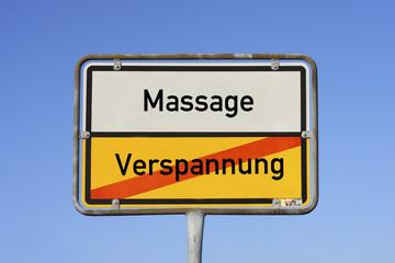 Schild Massage © Matthias Buehner