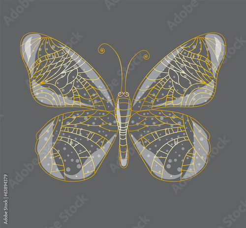 Beautiful abstract butterfly. Illustration 10 version