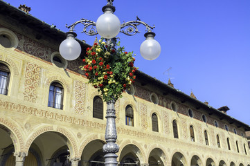 Vigevano, Old palaces in Piazza Ducale color image