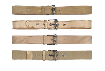 Belts in leather