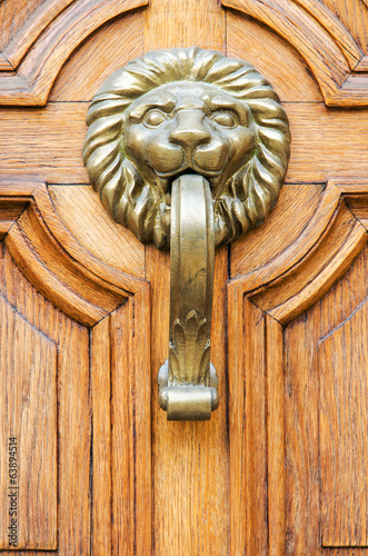 Door and handle in the old city, Sofia, Bulgaria