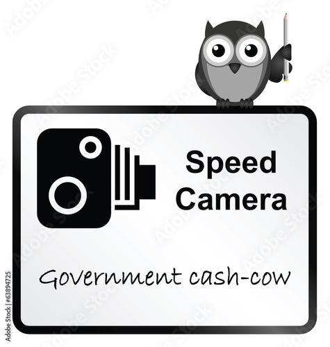 Speed Camera Government revenue sign