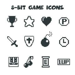 8-bit game icons