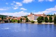 View across the Vltava River of Prague Castle, Czech Republic