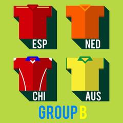 football team players shirt world cup 2014