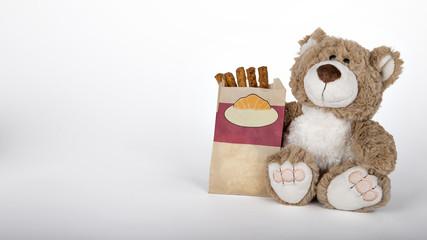 Teddy mit Baguette