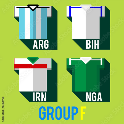 football team players shirt world cup 2014