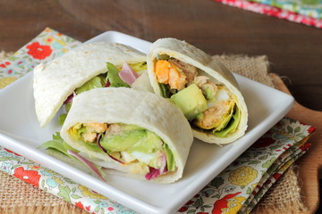 Wrap tortilla sandwich
