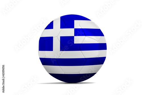 Soccer balls with teams flags, Brazil 2014. Group C, Greece