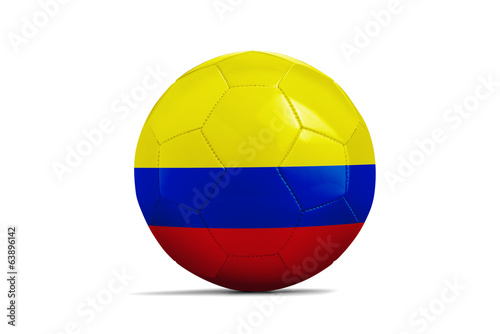 Soccer balls with teams flags, Brazil 2014. Group C, Colombia