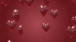 Valentine Love Hearts Red Background