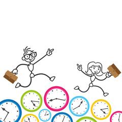 Strichmännchen, Zeit, Zeitmanagement, Workaholic, Business
