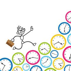Strichmännchen, Termine, Stress, Zeitmanagement