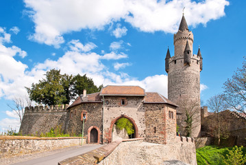 Der Adolfsturm und die Friedberger Burg in der Wetterau