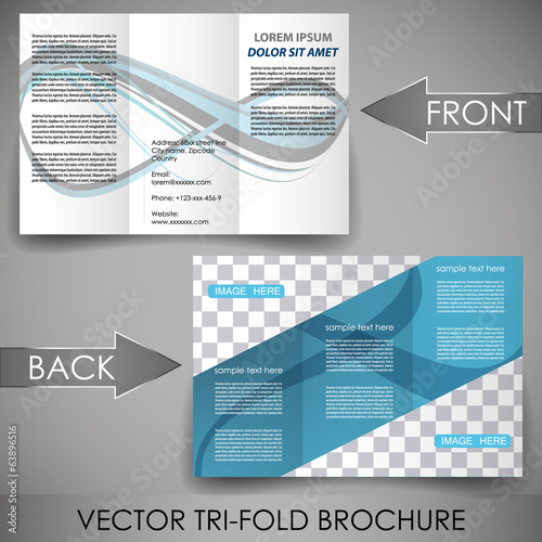 Business flyer template, corporate brochure or cover design
