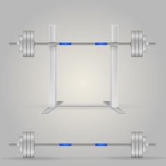 Illustration of barbells