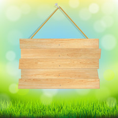 Summer Banner With Grass